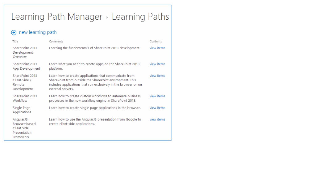 Learning Path Manager